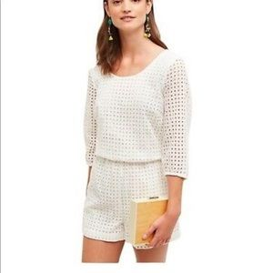 Anthropologie eyelet romper